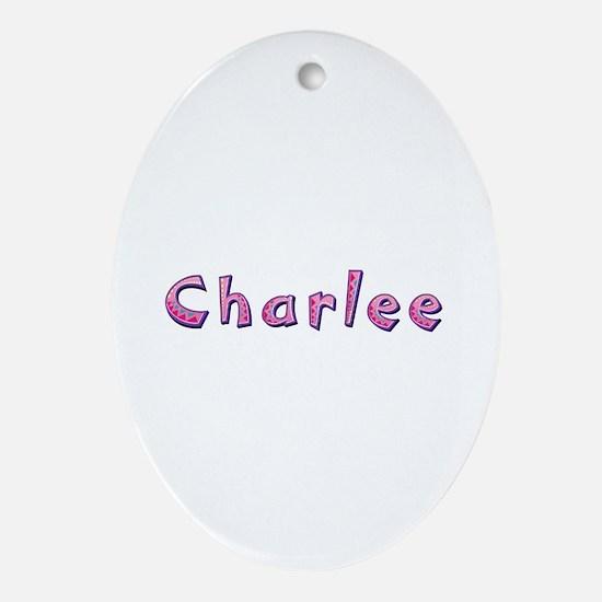 Charlee Pink Giraffe Oval Ornament