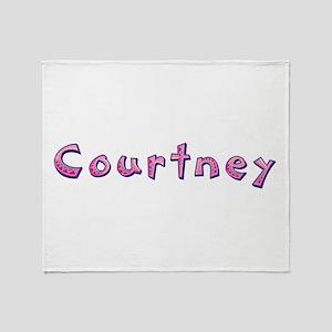 Courtney Pink Giraffe Throw Blanket