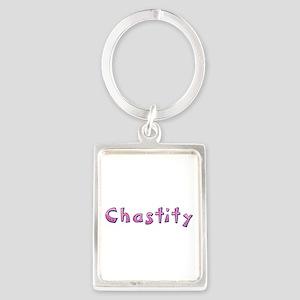 Chastity Pink Giraffe Portrait Keychain