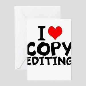 I Love Copy Editing Greeting Cards