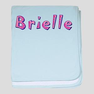 Brielle Pink Giraffe baby blanket