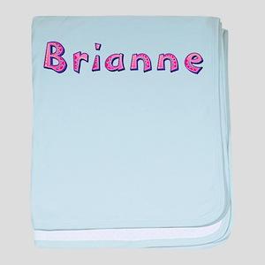 Brianne Pink Giraffe baby blanket