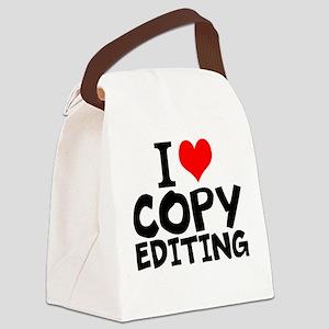 I Love Copy Editing Canvas Lunch Bag