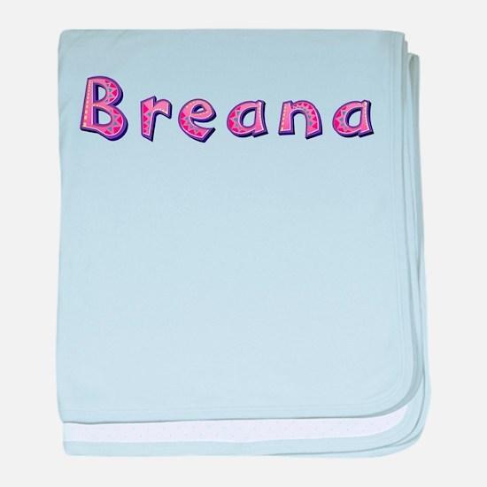 Breana Pink Giraffe baby blanket
