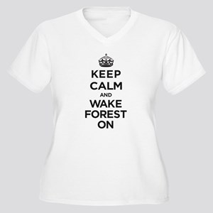 Keep Calm and Wake Forest On Plus Size T-Shirt