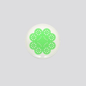 Shamrock of Infinite Peace and Love 02 Mini Button