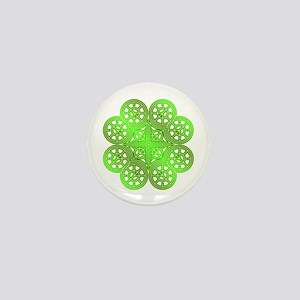 Shamrock of Infinite Peace and Love 03 Mini Button