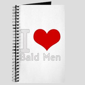 i love heart bald men Journal