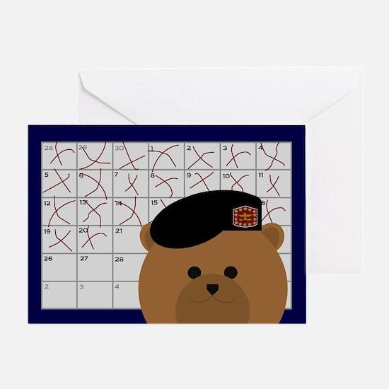 Countdown Army Black Beret Greeting Card