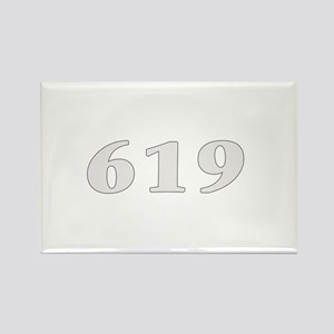 619 san diego area code baby Rectangle Magnet