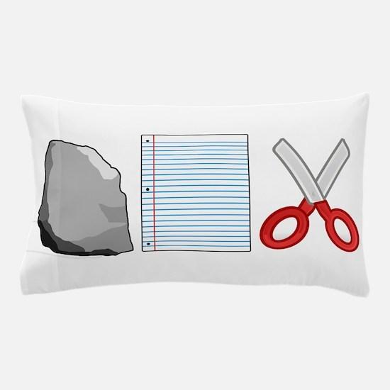 Rock Paper Scissors Pillow Case