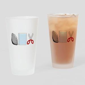 Rock Paper Scissors Drinking Glass
