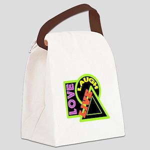 Live, Laugh, Love Canvas Lunch Bag