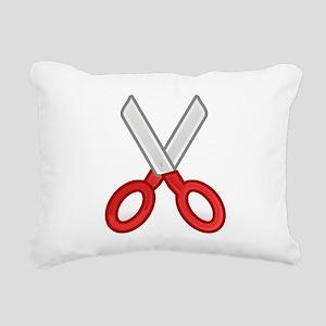 Scissors Rectangular Canvas Pillow