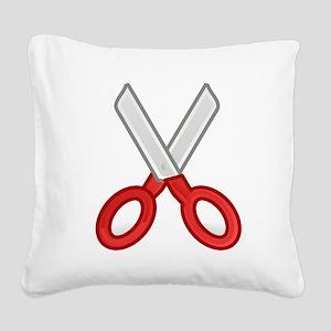 Scissors Square Canvas Pillow