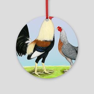 Grey Gamefowl Ornament (Round)