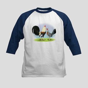 Grey Gamefowl Kids Baseball Jersey