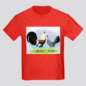 Grey Gamefowl Kids Dark T-Shirt