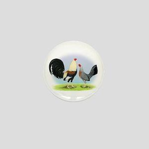 Grey Gamefowl Mini Button