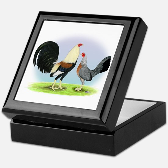 Grey Gamefowl Keepsake Box