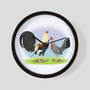 Grey Gamefowl Wall Clock