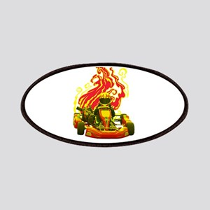 Kart Racer with Flames Patches