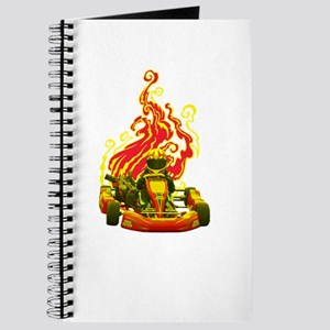 Kart Racer with Flames Journal