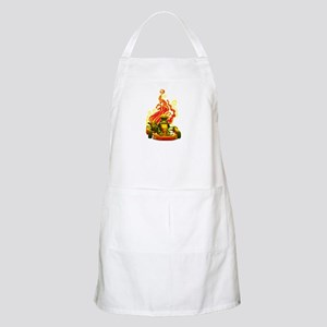 Kart Racer with Flames Apron