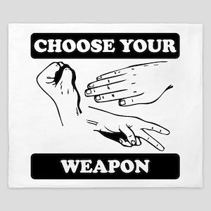 Rock Paper Scissors Choose Your Weapon King Duvet