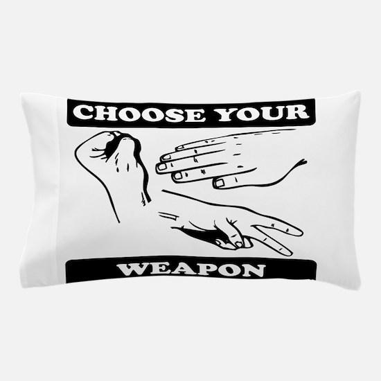 Rock Paper Scissors Choose Your Weapon Pillow Case