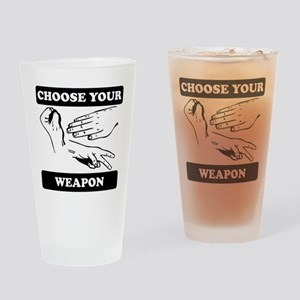 Rock Paper Scissors Choose Your Weapon Drinking Gl
