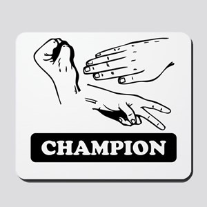 Rock Paper Scissors Champion Mousepad