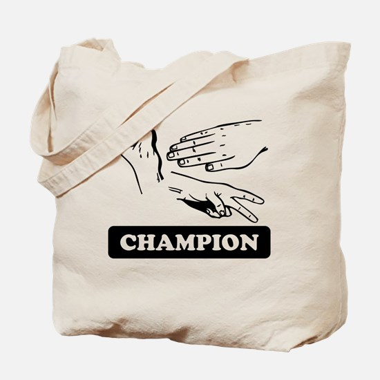 Rock Paper Scissors Champion Tote Bag