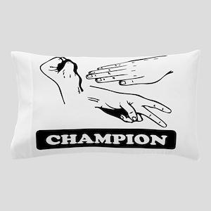 Rock Paper Scissors Champion Pillow Case