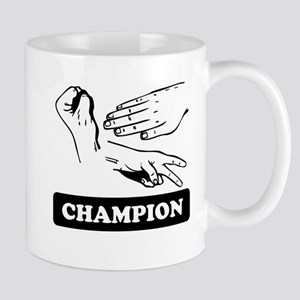 Rock Paper Scissors Champion Mugs