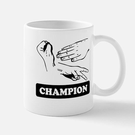 Rock Paper Scissors Champion Mugs