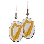 Harp-Ireland Coat Of Arms-2- Earring Oval Charm