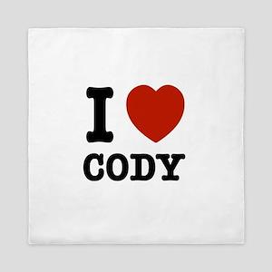I love Cody Queen Duvet