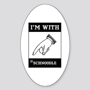 With the Schnoodle Oval Sticker