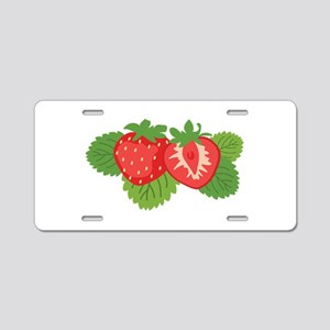Strawberry Fruit Aluminum License Plate