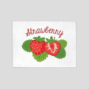Strawberry 5'x7'Area Rug