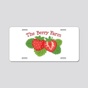 The Berry Farm Aluminum License Plate