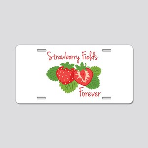 Strawberry Fields Forever Aluminum License Plate