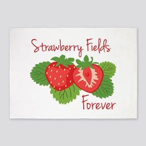 Strawberry Fields Forever 5'x7'Area Rug