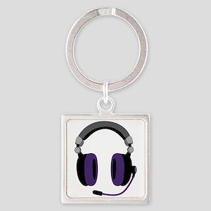 Video Gamer Headset Keychains
