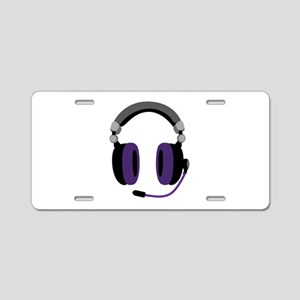 Video Gamer Headset Aluminum License Plate
