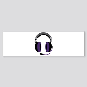 Video Gamer Headset Bumper Sticker