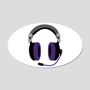 Video Gamer Headset Wall Decal