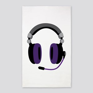 Video Gamer Headset 3'x5' Area Rug