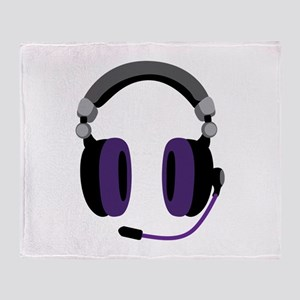 Video Gamer Headset Throw Blanket